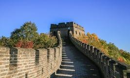 Пейзаж Великой Китайской Стены Стоковые Изображения