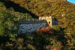 Пейзаж Великой Китайской Стены Стоковые Изображения RF
