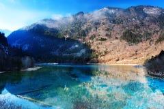 Пейзаж волшебства Jiuzhaigou стоковые изображения rf