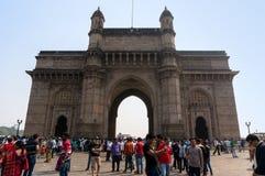 Пейзаж ворот Индии в Мумбае, Индии стоковая фотография
