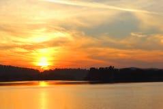 Пейзаж восхода солнца стоковые фотографии rf