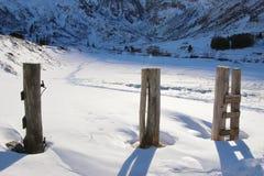 Пейзаж в горах, Австрия зимы, Европа Стоковая Фотография RF