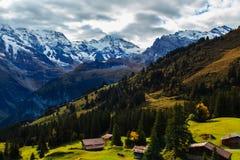 Пейзаж в Murren Стоковое Изображение