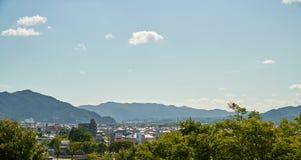 Пейзаж города Yamaguchi стоковые фото