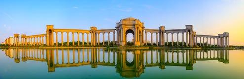 Пейзаж города, Китай города Тяньцзиня стоковое изображение