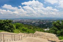 Пейзаж города от взгляда общественного парка Hat Yai Стоковые Изображения
