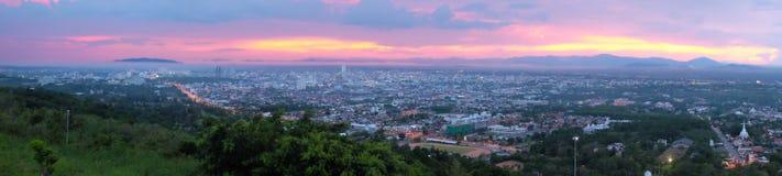 Пейзаж города от взгляда общественного парка Hat Yai Стоковое Изображение RF