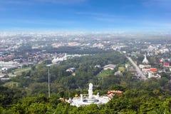 Пейзаж города от общественного парка Hat Yai Стоковая Фотография