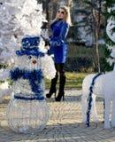 Пейзаж города рождества Стоковые Фотографии RF