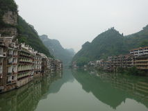 Пейзаж города Zhenyuan Стоковое Изображение RF