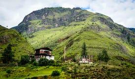 Пейзаж горы в Тхимпху, Бутане Стоковые Фото