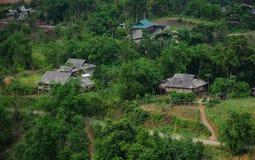 Пейзаж горы в Mai Chau, Вьетнаме Стоковые Изображения