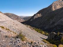 Пейзаж горы на Ист - Сайде национального парка Yosemite стоковое фото