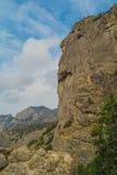 Пейзаж горы на следе Galitsina Стоковые Фотографии RF