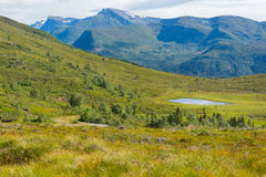 Пейзаж горы, Норвегия Стоковая Фотография