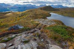 Пейзаж горы, Норвегия Стоковые Изображения RF