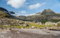 Пейзаж горы, Норвегия Стоковые Изображения