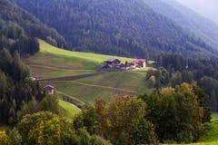 Пейзаж горы доломитов Стоковое Фото