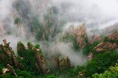 Пейзаж горы huangshan Китая стоковые фотографии rf