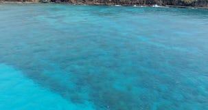 Пейзаж гор в море 4k сток-видео