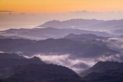 Пейзаж гор Тайваня красивый Стоковое Изображение