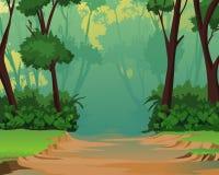 пейзаж джунглей предпосылки приятный Иллюстрация штока