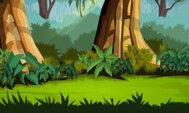 пейзаж джунглей предпосылки приятный Бесплатная Иллюстрация