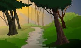 пейзаж джунглей предпосылки приятный Иллюстрация вектора