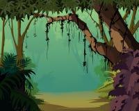 пейзаж джунглей предпосылки приятный Стоковые Изображения RF