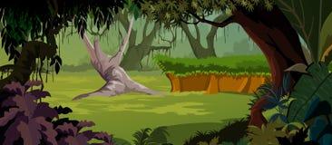 пейзаж джунглей предпосылки приятный Стоковая Фотография