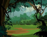 пейзаж джунглей предпосылки приятный Стоковое Изображение RF