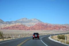 пейзаж дороги виллиса красный Стоковое Изображение