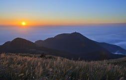 Пейзаж захода солнца в Тайване стоковая фотография