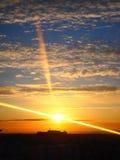 Пейзаж захода солнца Стоковое Изображение RF