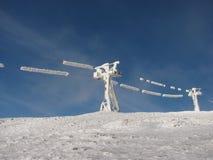 Пейзаж зимы в горах Стоковое Фото