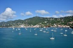 Пейзаж карибского острова от St. Thomas, USVI Стоковое фото RF