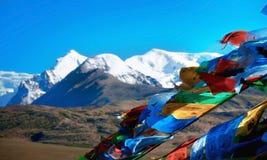 Пейзаж китайца плато Тибета географического Стоковые Изображения
