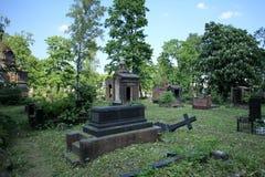 Пейзаж кладбища драматический Стоковое фото RF