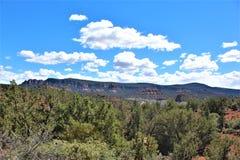Пейзаж ландшафта, межгосударственные 17, Феникс к Флагстафф, Аризона, С стоковое изображение