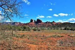 Пейзаж ландшафта, межгосударственные 17, Феникс к Флагстафф, Аризона, С стоковое фото