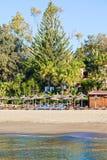 Пейзаж летния отпуска пляжа Marbella Стоковое фото RF