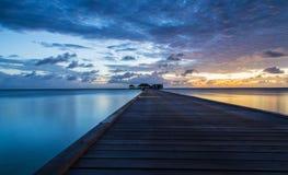 Пейзаж Мальдивов рано утром Стоковая Фотография RF