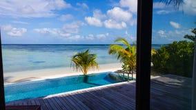 Пейзаж Мальдивов Стоковая Фотография