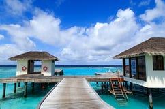 Пейзаж Мальдивов Стоковое Изображение