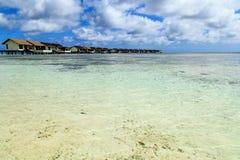 Пейзаж Мальдивов Стоковая Фотография RF