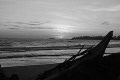 Пейзаж моря вечера Стоковая Фотография RF