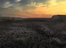Пейзаж научной фантастики холма грязи Стоковые Фотографии RF