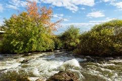 Пейзаж на реке Ural, Иртыш, Стоковые Фото