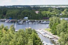 Пейзаж на яхт-клубе Стоковое Изображение RF