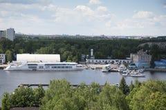 Пейзаж на яхт-клубе Стоковая Фотография